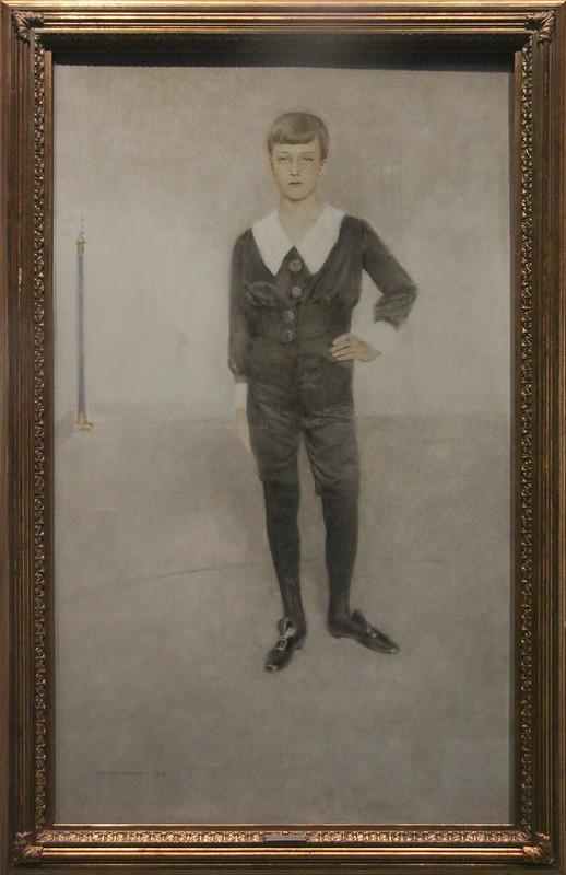 Portrait of H.M. Prince Leopold of Belgium, Duke of Brabant, Fernand Khnopff