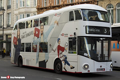 Wrightbus NRM NBFL - LTZ 1695 - LT695 - YouTube CF - Piccadilly Circus 3 - Abellio London - London - 161203 - Steven Gray - IMG_9538