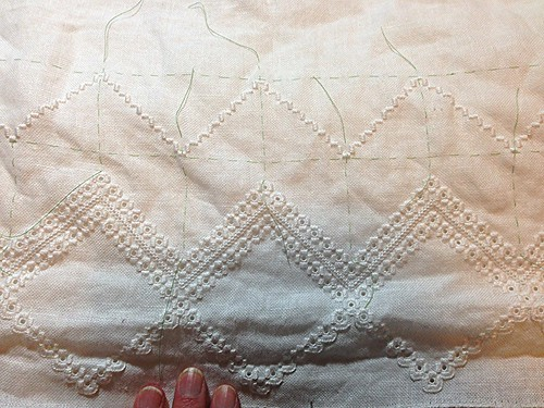 hardanger curtain in progress