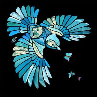 Turquoise Bird / Птица-бирюза
