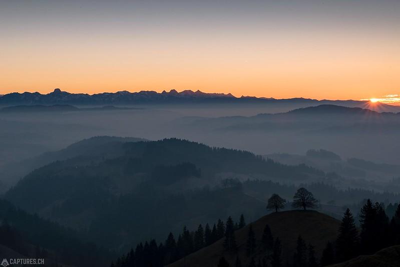 Sunset over the Emmental - Langnau