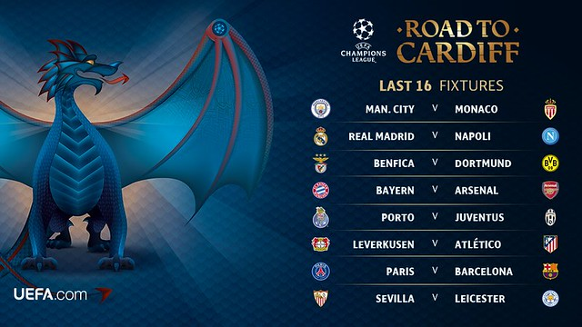Champions League: Sorteo Octavos de Final