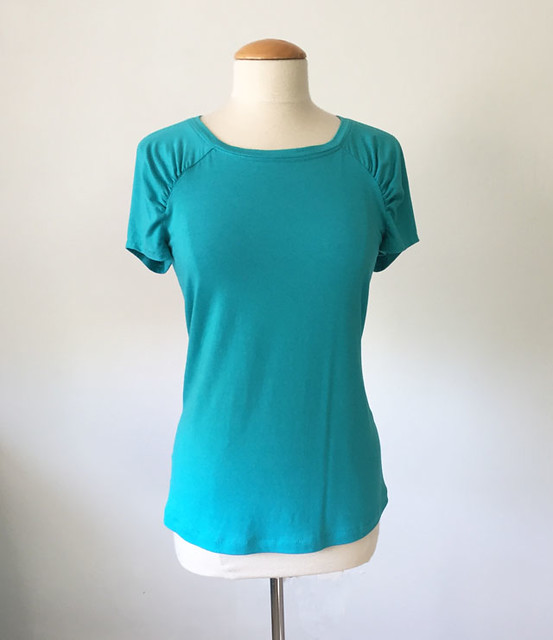green knit Burda top