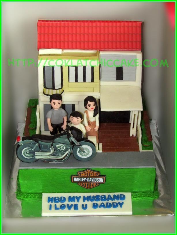 Cake rumah dan harley