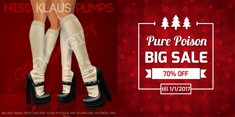 Pure Poison - Miss Klaus Pumps AD- Group GIFT and Christmas SALE -70% OFF