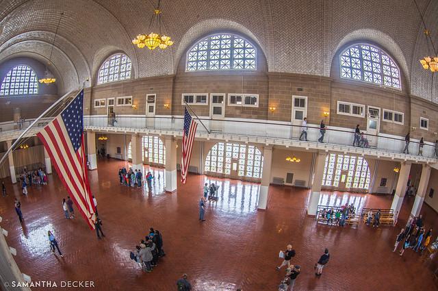 Ellis Island Registration Room:  Looking Down