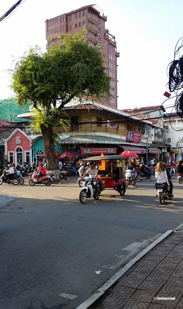 Katunäkymää Phnom Penhissä, Kambodzassa