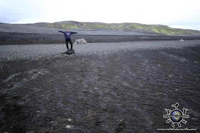 De camino a Landmannalaugar, Islandia.