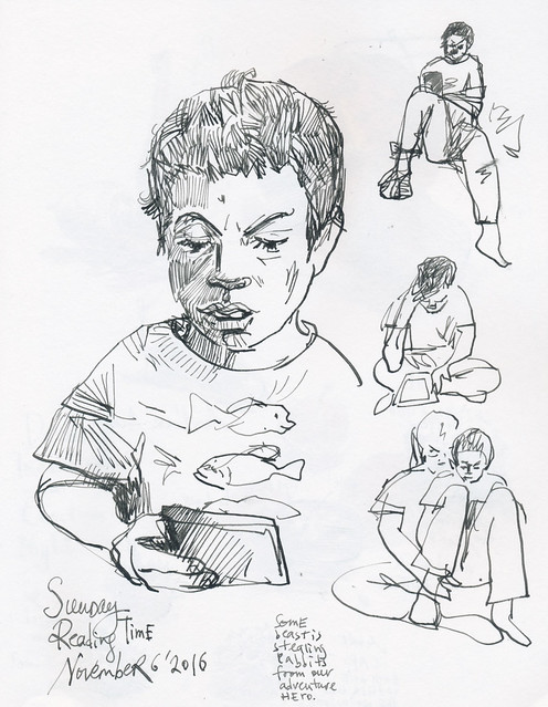 Sketchbook #101: Reading Time