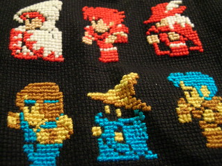 final fantasy cross stitch sampler | by sushiesque
