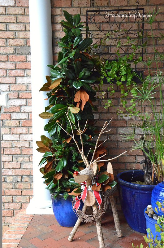 Magnolia Christmas Tree-Reindeer-Porch-Housepitality Designs