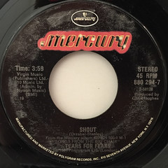 TEARS FOR TEARS:SHOUT(LABEL SIDE-A)