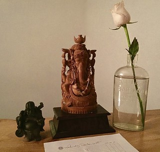 Ganesha, Darth Buddha, Whiskey, White Rose