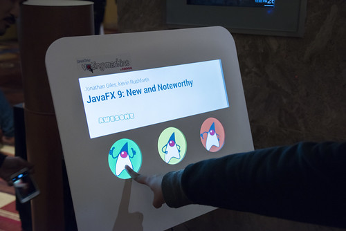Session Survey Machine, JavaOne 2015 San Francisco