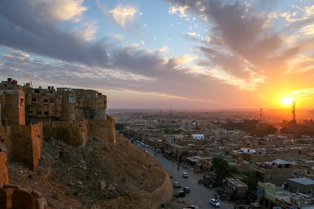 Sunset view from Jaisalmer Fort, Jaisalmer, India ジャイサルメール・フォートから見た日没
