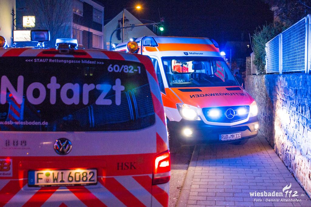 Gebäudebrand in Niederwalluf 06.01.17