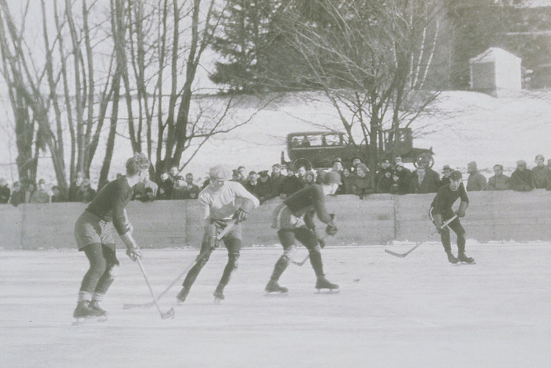 Ice Hockey On The Duck Pond, Connecticut Agricultural College