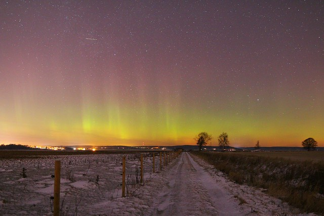 """The Road (6): the Arctic Aurora"" Sättuna Linköping Sweden, 6 Jan-2017 (IMG5850Afl)"