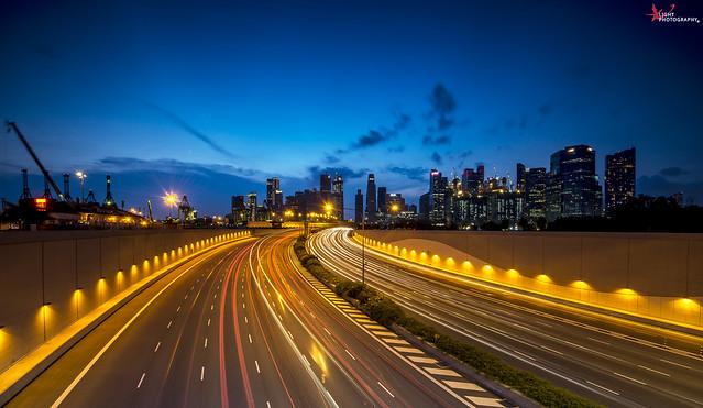 Marina Coastal Highway : Light Trails