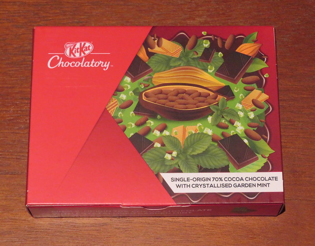 London Kit Kat Chocolatory - Single-Origin 70% Cocoa Chocolate with Crystallised Garden Mint