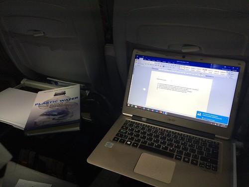 #AcWri on a plane