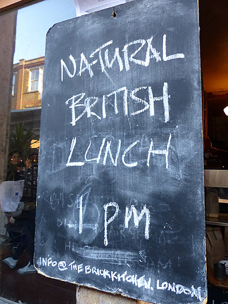 natural british lunch