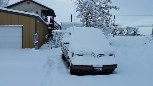 Snowbound Minivan