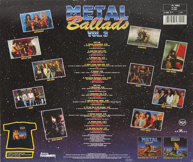 """Metal Ballads Vol 3 III 12"""" Vinyl LP"""