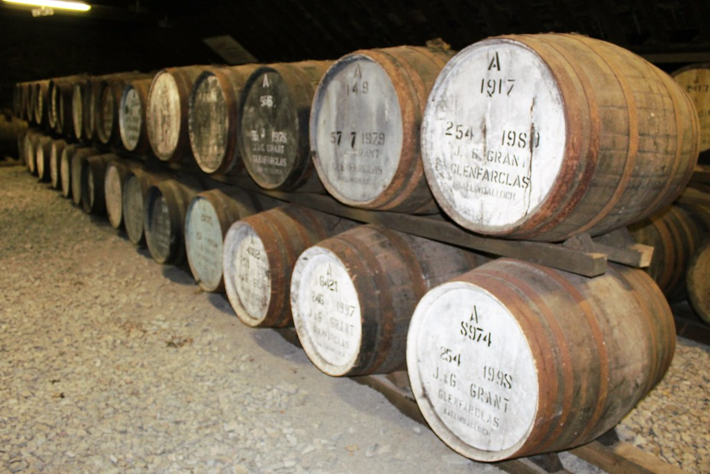 Maturing Whisky Casks at Glenfarclas Distillery