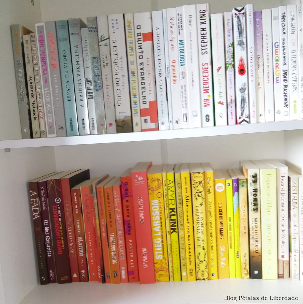 livro, branco, amarelo, laranja, marrom, vermelho