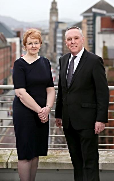Judge McCaffrey and Michael Robinson at Law Society House