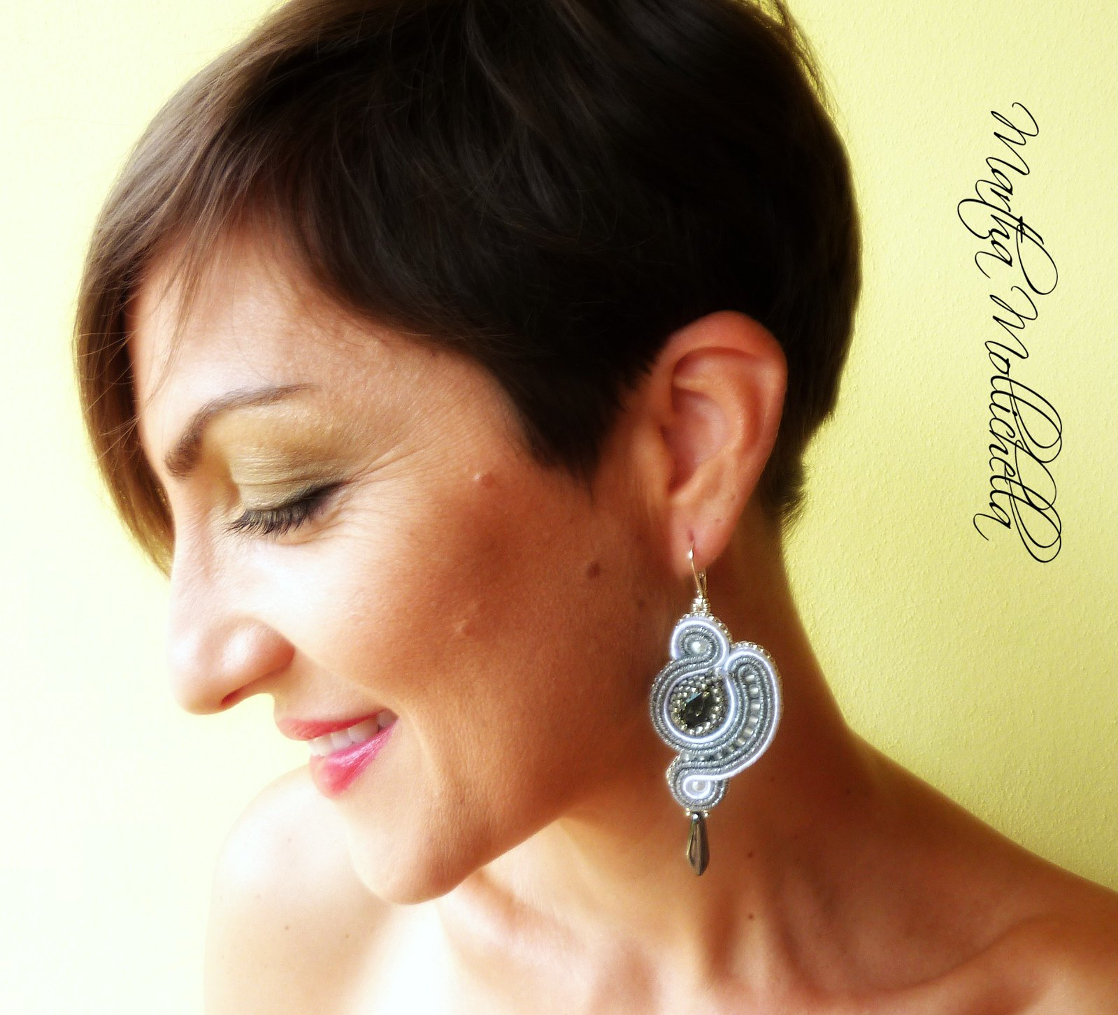 soutache earrings jewelry handmade in Italy