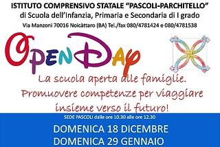 Noicattaro. Open Day scuola Pascoli-Parchitello front