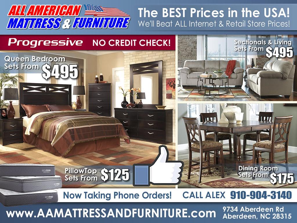 No Credit Check Bedroom Furniture Craigslist Specials All American Mattress Furniture