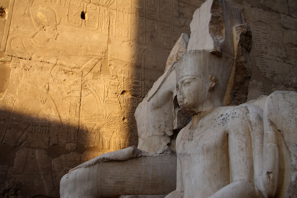 Statues & Hieroglyphics At Luxor Temple