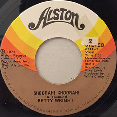 BETTY WRIGHT:SHOORAH! SHOORAH!(LABEL SIDE-A)