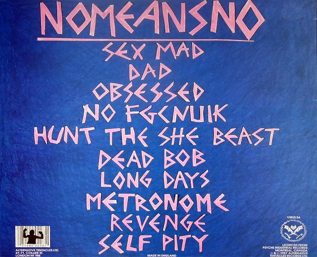 "NOMEANSNO Sex mad 12"" vinyl LP"
