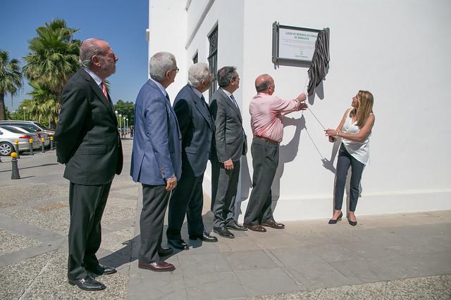 06-130618 Descubrimiento Placa Conmemorativa como lugar de Memoria Histórica de Andalucía del Lugar de fusilamiento de Blas Infante