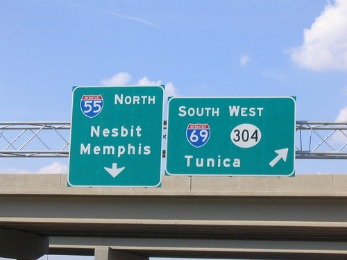 I-69/MS 304 interchange signage at I-55 | by lordsutch