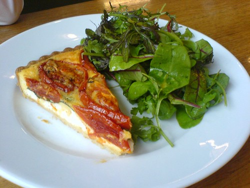 Tomato and goat cheese tart | by clotilde