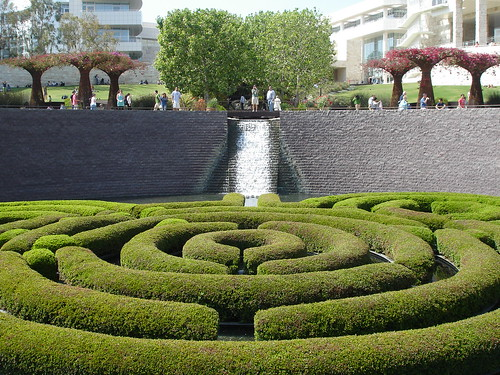 Getty Gardens Waterfall
