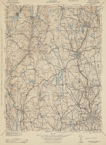 Litchfield Quadrangle 1943 - USGS Topographic Map 1:125,000 | by uconnlibrariesmagic