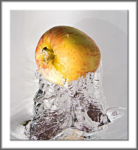Apple Jumping Out Of The Water | by AHMED...