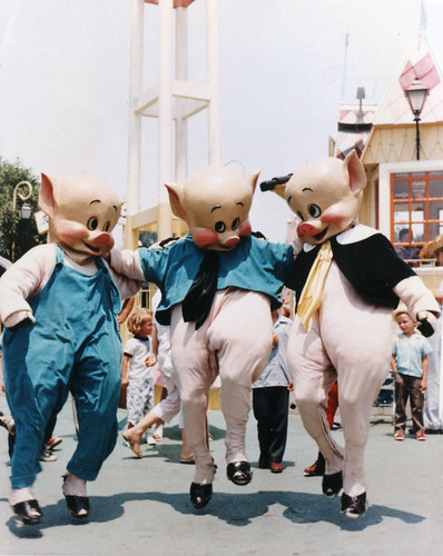 1958 Three Little Pigs At Disneyland | by Miehana
