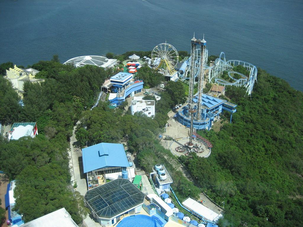 Ocean Park Hong Kong Aerial View