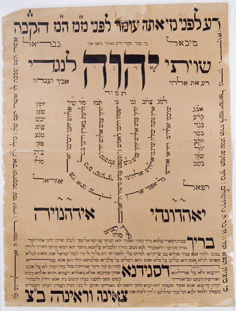Manuscript [67-20]: Shiviti plaque (n.d.)