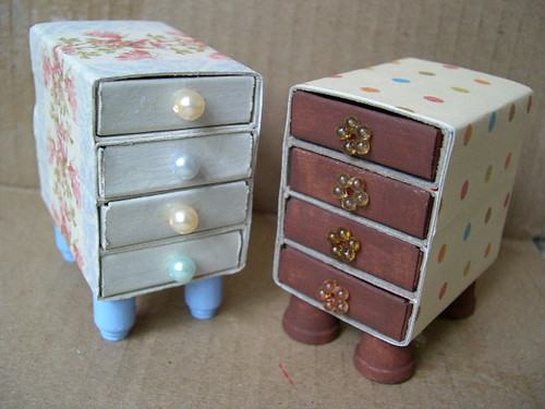 Matchbox drawers i saw these being made on a crafters tv for Skilled craft worker makes furniture art etc