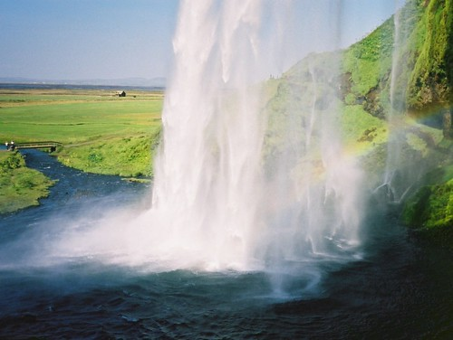 Iceland: From behind Seljalandsfoss | by vicmontol