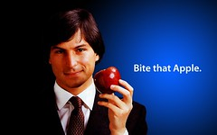 Bite That Apple Steve Jobs Desktop 2 | by Sigalakos