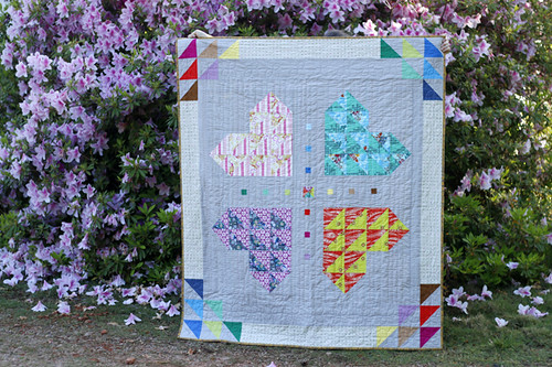 Brokenfull Heart, hand quilted
